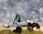 Woman has a rest — Stock Photo