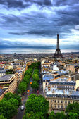 Eiffel Tower HDR — Stockfoto