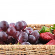 Stock Photo: Basket of fresh fruits