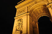Arc de Triomphe, Paris in night — Fotografia Stock