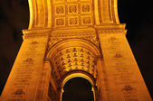 Arco do triunfo, paris na noite — Fotografia Stock