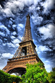 Eiffel tower, Paris HDR — Stock fotografie