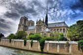 Notre Dam, Paris, HDR — Stock Photo
