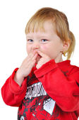 Grimace child — Stock Photo