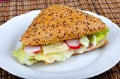 Triangle fresh sandwich — Stock Photo