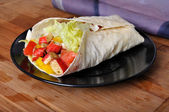 Surimi kebab with vegetable — Stock Photo