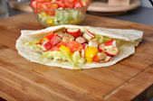 Surimi kebab with vegetable — Stock Photo