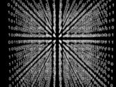 キューブ内のバイナリ コード マトリックス — ストック写真
