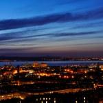 View on Edinburgh harbor in night — Stock Photo