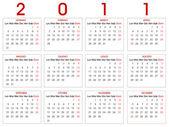 Calendario 2011 — Stock Vector
