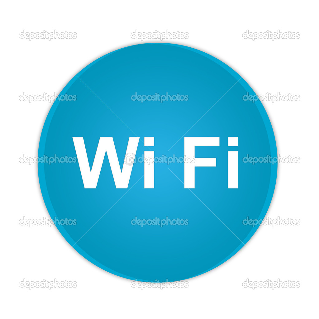 Wi Fi blue button isolated on white background  Stock Vector #2932317