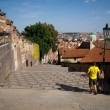 Stock Photo: Walking descend from Prague Castle