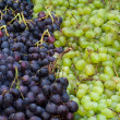 Fresh grapes on the counter market — Stock Photo