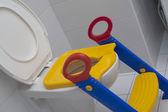 Child toilet seat — Stock Photo