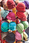 Women's felt hats — Stock Photo