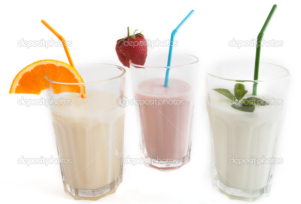 Yogurt Drink Logo Yogurt Drink in a Glass Beaker