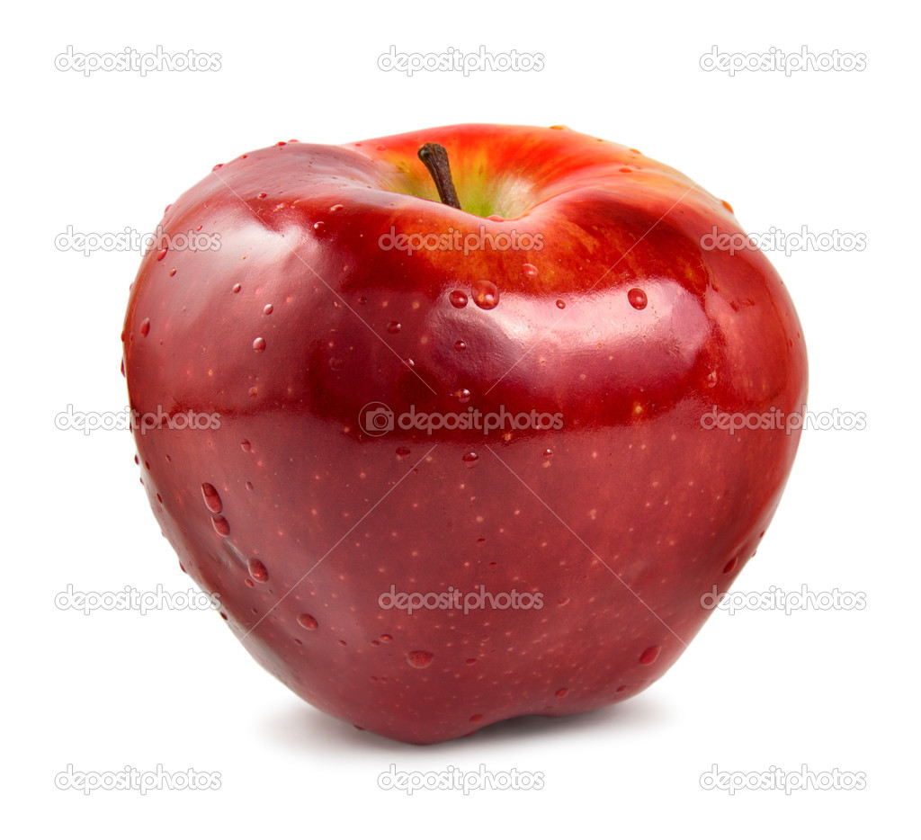 Red ripe apple isolated on a white background  Stock Photo #2806412