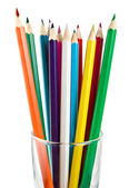 A glass cup with pencils — Stock Photo
