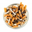 Cigarettes in an ashtray isolated — Stock Photo #2993091