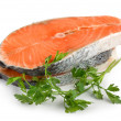 Stock Photo: Salmon isolated