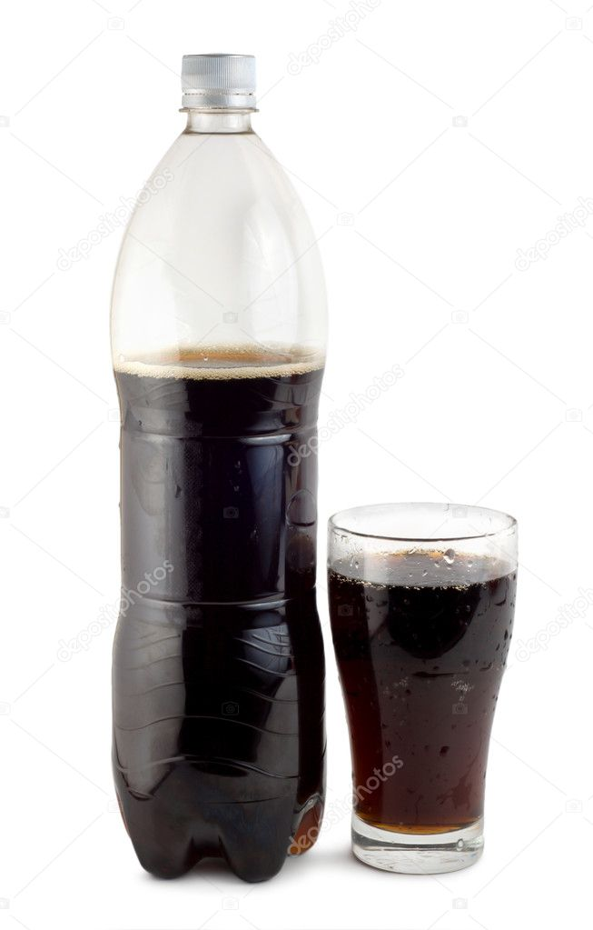 Bottle of soda isolated on a white background  Stock Photo #3120823