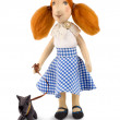 Royalty-Free Stock Photo: Soft toy girl and dog