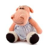 Soft toy hippopotamus — Stock Photo