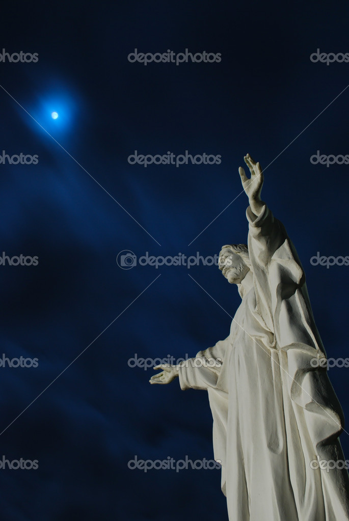 Jesus christ with arms wide open  Stock Photo #2807699