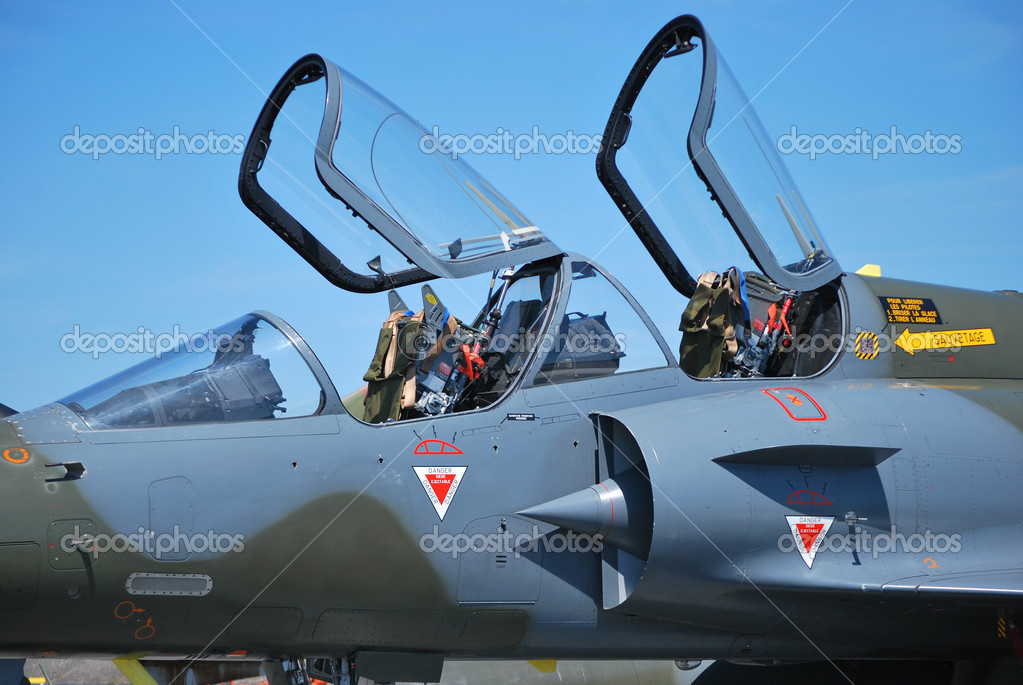 France fighter plane Mirage 2000 with open cockpit — Stock Photo #3389254
