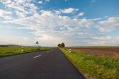 Endless asphalt road — Foto Stock