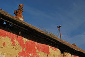 Roof of the old house — Stok fotoğraf