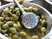 Green olives /cocktail/ — Stock Photo
