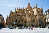 古老的大教堂,在塞戈维亚 /Spain/ — 图库照片