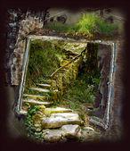 Escadas de pedra velhas — Foto Stock