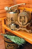 Accessories for sauna — Stock Photo