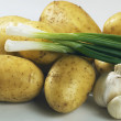 Potato onion and garlic — Stock Photo
