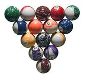 Balls of billiards — Stock Photo