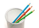 Ołówki w koszyku — Zdjęcie stockowe