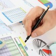 Graphs tables and documents — Stock Photo #4982960