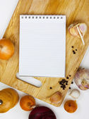 Notebook for culinary note — Stock Photo