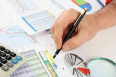 Grafieken tabellen en documenten — Stockfoto