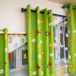Stock Photo: Curtains in nursery