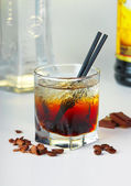 Coffee cocktail with vodka — Stock Photo