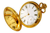 Gold pocket watch — Stock fotografie
