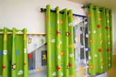 Curtains in the nursery — Stock Photo