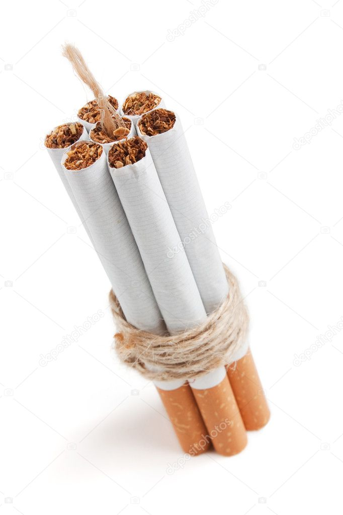 Bomb Cigarette Isolated on white background  Stock Photo #5079847