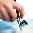 Stock Photo: Airbrush in hand