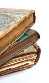 En gammal bok med skrynkliga blad — Stockfoto