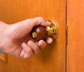 Wooden handle — Stockfoto