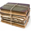 Foto de Stock  : Old book with crumpled sheet